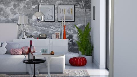 grey with a bit of color - Modern - Living room - by HenkRetro1960
