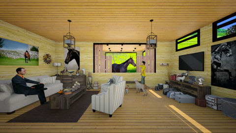 Stable Room - Country - Living room - by Joao M Palla
