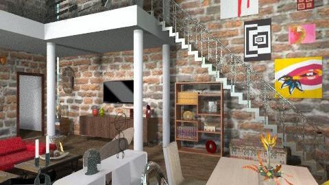 loft - Living room - by dina_szab