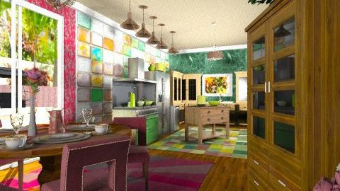 Green Kitchen - Country - Kitchen - by wiljun