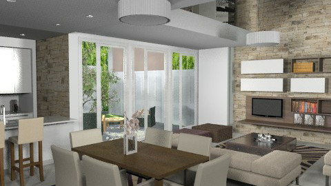 Serene apartment - Modern - Living room - by liling