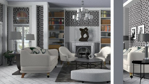 Salon BW - Eclectic - Living room - by liling