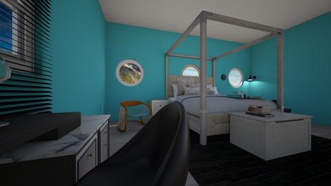 teen girl bedroom - Feminine - Bedroom - by evrska
