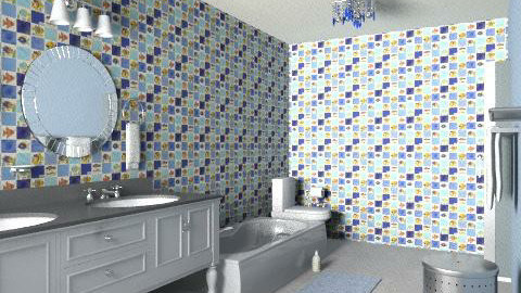 Fiesta in blue - Eclectic - Bathroom - by alleypea