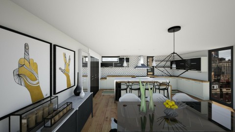 BW Kitchen V4 - Modern - Kitchen - by mrusso0