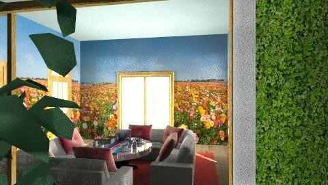 Garden in home 2 - Country - Living room - by KarolinaZ