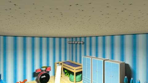 Davids Room - Masculine - Bedroom - by cheerleaderabbey