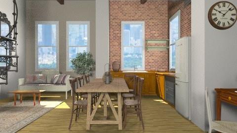 Industrial Loft - Living room - by teen bedroom