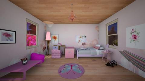 Cute Pinkie House - Feminine - Kids room - by Applestyler