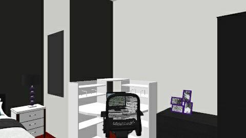 Black and White Bedroom - Modern - Bedroom - by JordanFoxi
