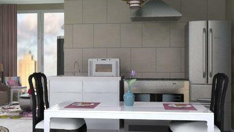 Small Kitchen - Classic - Kitchen - by dredre1030