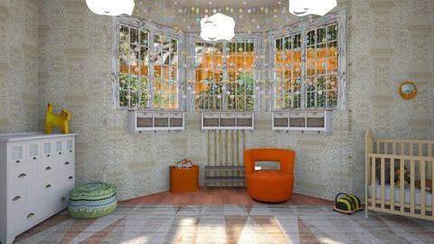 orange - Kids room - by straley123456
