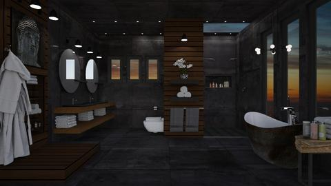 Dark Bath - Bathroom - by crosette
