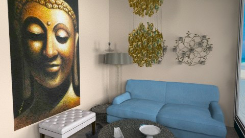 Gold and Blue - Living room - by ACassese