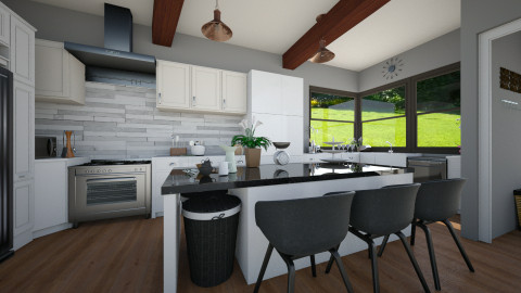 Modern Rustic Kitchen - Modern - Kitchen - by Kenzie_KO