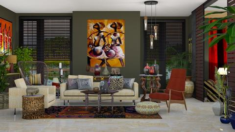 African Touch By Colours - Global - Living room - by janip