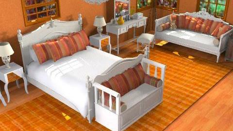 orange - Country - Bedroom - by Cejovic Andrijana