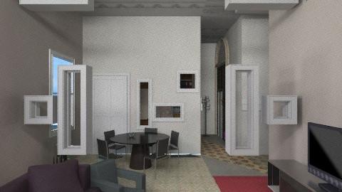 soggiorno chiuso buchi - Classic - Living room - by favaloro_bianca