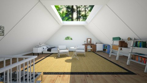Skylight Attic - Vintage - Bedroom - by Yemascus