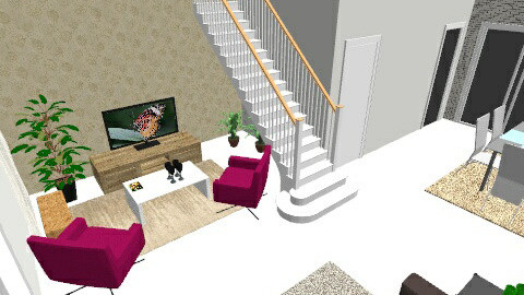 vanessa  e pedro - Living room - by Carolina Macedo