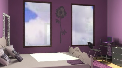purple room - Modern - Bedroom - by malou84