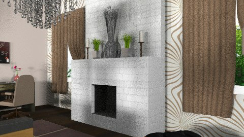 Fireplace  - Modern - Living room - by tanujaw