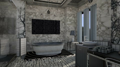 blackandgrey bath - Bathroom - by trubble