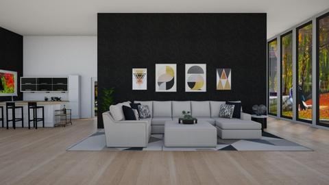 Black White Boston - Modern - Living room - by jammuek
