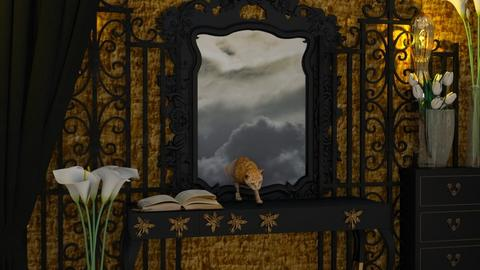 Magic Mirror Cat - by Yavanna