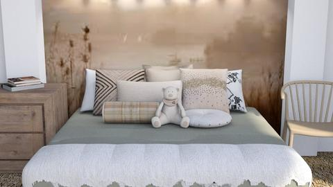 Brown - Eclectic - Bedroom - by millerfam