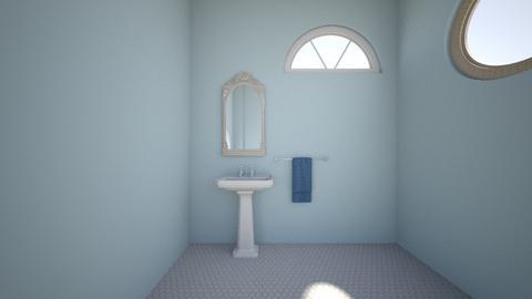 blue bathroom - Eclectic - Bathroom - by derssa