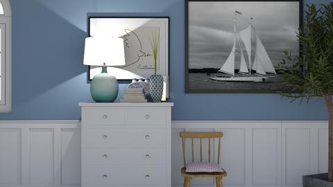 blue - Bedroom - by wilmaskold