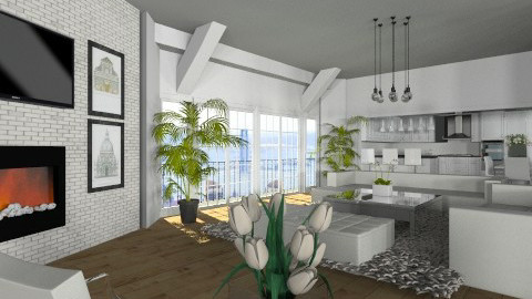 Livingroom003 - Modern - Living room - by Ivana J