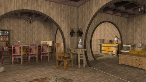 Hobbits Hole - Rustic - by unglued