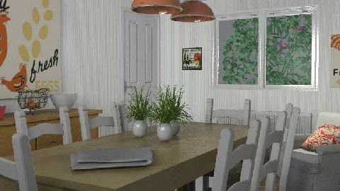 RR18 Berkshire Country - Country - Dining room - by toadfool