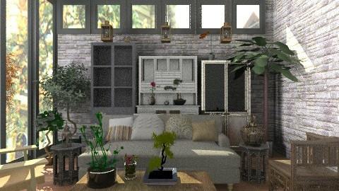 Rustic livng space - Rustic - Living room - by rosiedoll