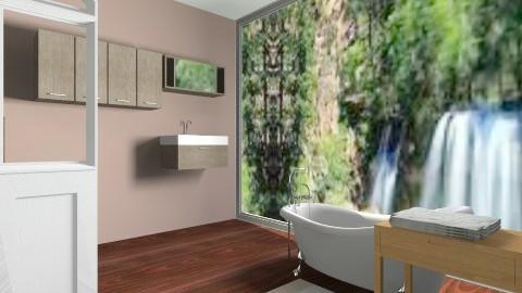 nature bath - Rustic - Bathroom - by rockytalita