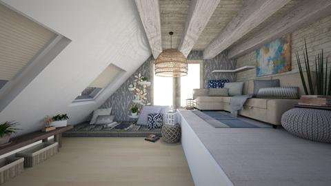 Calm Attic Space - Rustic - by Rebekah Pincock
