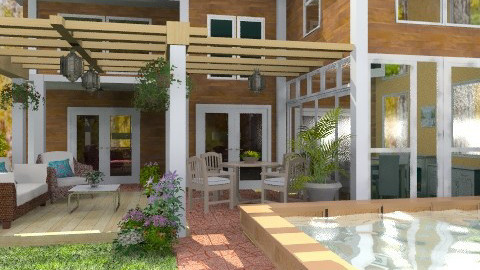 Patio and Pool Backyard - Modern - Garden - by Bibiche