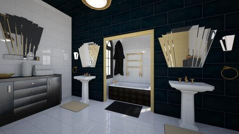 Art Deco Inspired Bath - Bathroom - by Kit Bramble