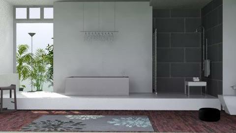 Modern minimalist bathroom - Minimal - Bathroom - by carolinafer