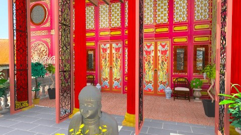 Heavenly Blessings Temple - Classic - Garden - by Bibiche