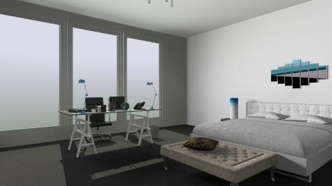 blue_gray - Modern - Bedroom - by graywalls