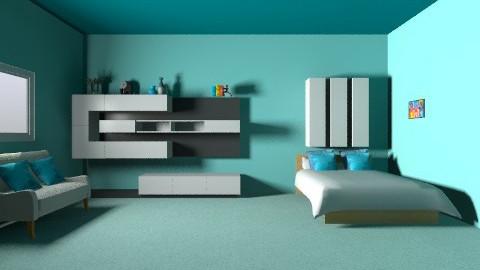 Simplistic Blue - Minimal - by PaxAmor