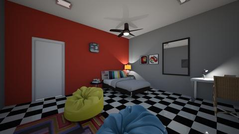 teenage room 3 - Bedroom - by fu zi ya