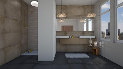 Tan modern - Bathroom - by kennedycoleman