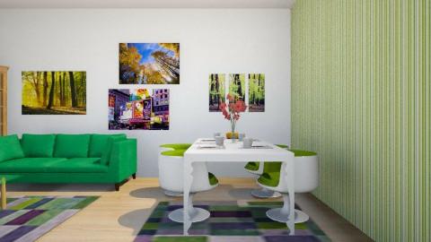 crazy modern II - Living room - by Melis Sevim