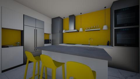 Yellow Modern Kitchen - Modern - Kitchen - by green42