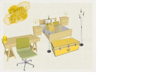 yellow teens room  - by ZARAH123456789