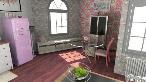 Strawberry Kitchen - Kitchen - by wanderingpsychonaut